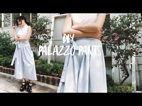 DIY Palazzo Pants / Wide Pants (Korean Sub) 팔라초 바지 만들기