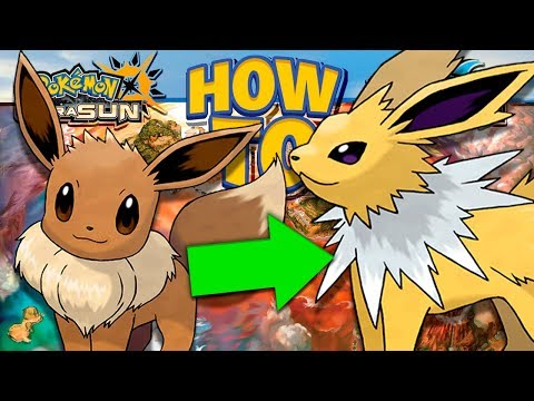 HOW TO Evolve Eevee into Jolteon in Pokemon Ultra Sun and Moon