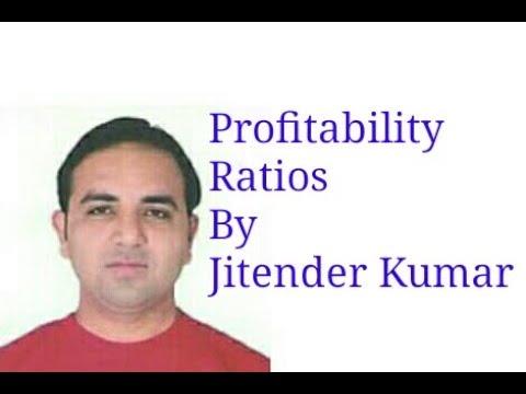 Calculation of Profitability Ratios-G.P.Ratio/N.P.Ratio/Operating Ratio/Operating profit ratio