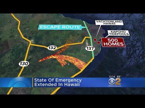 State Of Emergency Extended In Hawaii