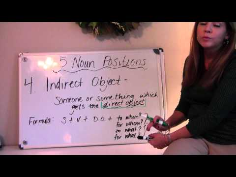 Direct Object & Indirect Object