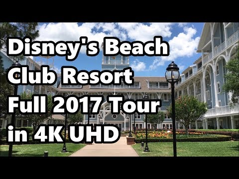 Disney's Beach Club Resort | Full Tour in 4K | June 2017 | With Narration