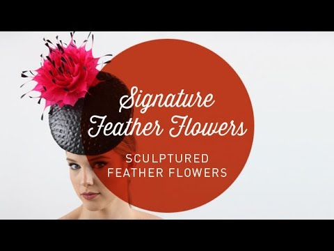 Hat Classes - Sculptured Feather Flowers