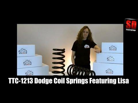 Tuftruck TTC-1223 Dodge Coil Spring Kit Featuring Lisa Clark - Rear Coil Spring