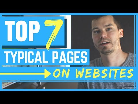 Typical Websites Pages - TOP 7 for Small Business Sites, NEED your input!