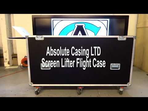 Screen Lifter Flight Case | Plug, Play, Present | Absolute Casing