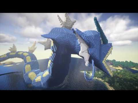 Minecraft Gyarados Build - Pokemon