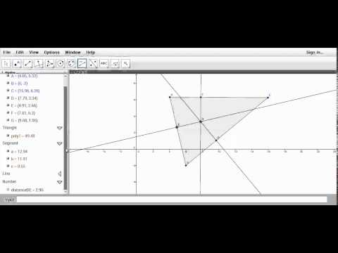 Finding the Incenter using GeoGebra