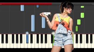 Becky G Mayores Bad Bunny Piano Midi tutorial Sheet app Cover Karaoke