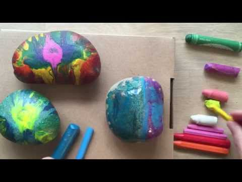 Crayon Rocks Paper Weight   Gift Idea