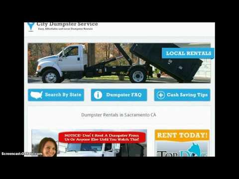 Dumpster Rental Sacramento CA
