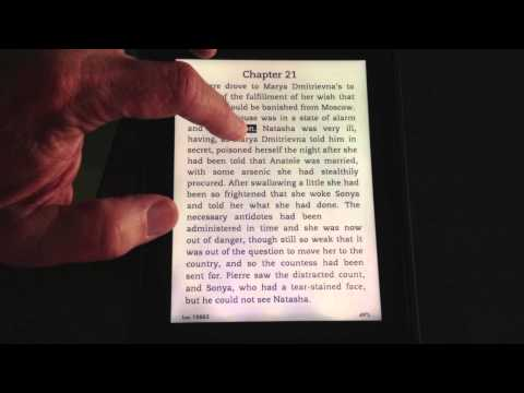 How to Touch a Kindle Paperwhite