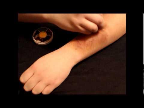 Fake Bruise using Ben Nye Bruise Wheel