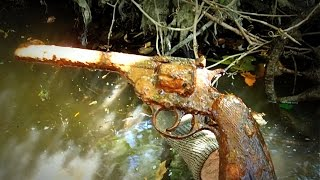 Discovering A Gun In The River Along With Neat Bottles