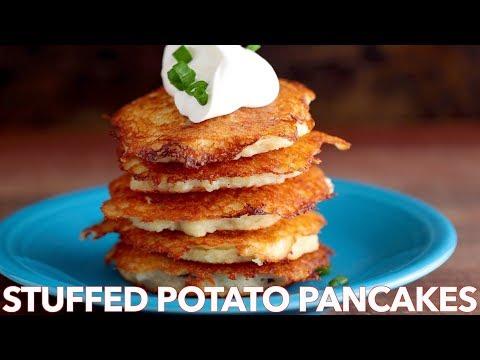Easy Meat Stuffed Potato Pancakes (Draniki