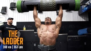 LOG PRESS PR AND LOG LADDER WITH LARRYWHEELS AND WORLDS STRONGEST MAN