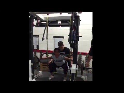 145 Squat triples, Marietta Barbell, 6 Feb 16