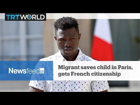 NewsFeed: Migrant saves child in Paris, gets French citizenship