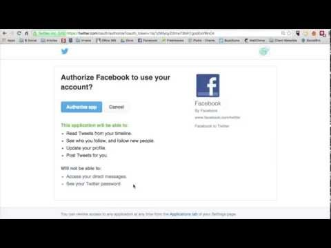 How to connect your FB page to Twitter 2014