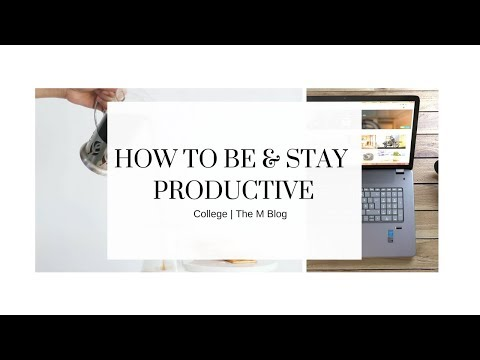 Be & Stay Productive In CC
