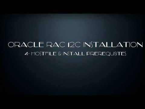 Oracle RAC 12C Installation -4-  hostfile Prerequisites.