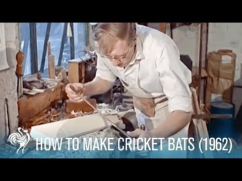 How to Make Cricket Bats: Old Traditions & Modern Methods (1962)   British Pathé