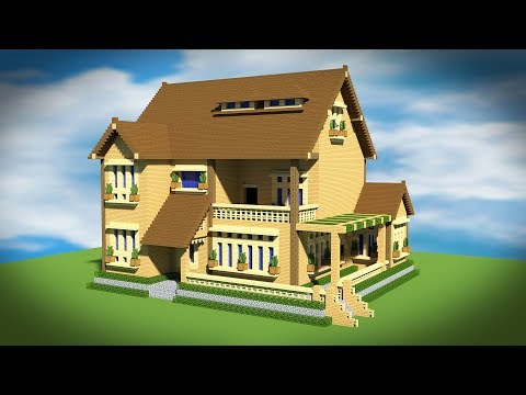 Minecraft: How To Build A Wooden Mansion House Tutorial