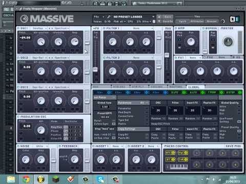 How to Make a Skream-Style Old School Dubstep Wobble Bass in Massive (FL Studio)