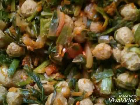 Soya chunks - spring onion sabzi
