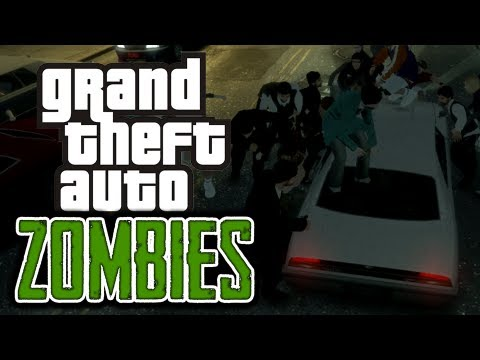 GTA 4: Zombie Apocalypse! - (Zombies Mod Funny Moments)