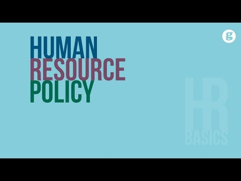 HR Basics: Human Resource Policy
