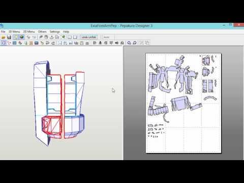 Pepakura Designer Tutorial Beginner How I do it