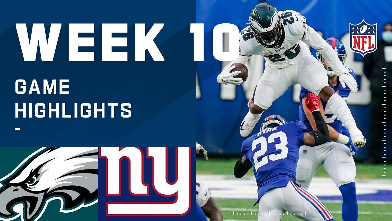 Eagles vs. Giants Week 10 Highlights | NFL 2020