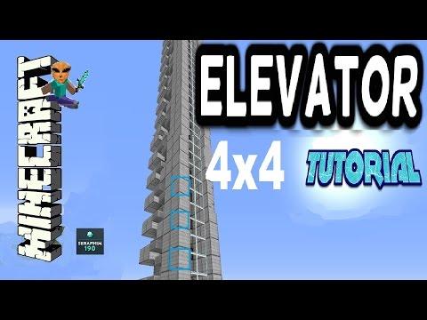 Minecraft 4x4 Elevator - HOW TO - (Tutorial) TU39 XBOX / PS3 / PS4