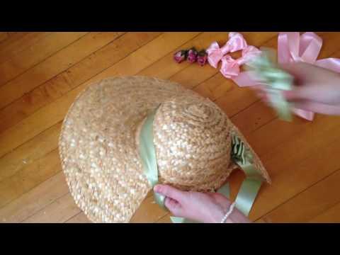 Decorating an Elinor Regency Bonnet