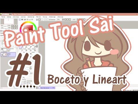 Tutorial Paint Tool Sai #1 - Boceto y Lineart