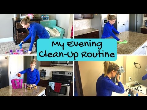 MY QUICK EVENING CLEAN-UP ROUTINE   Working Mom