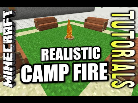Minecraft PS4 - REALISTIC CAMP FIRE - How To - Tutorial ( PS3 / XBOX )