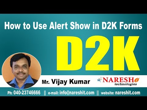 How to Use Alert Show in D2K Forms? | D2K Forms and Reports Tutorial | Mr. Vijay Kumar