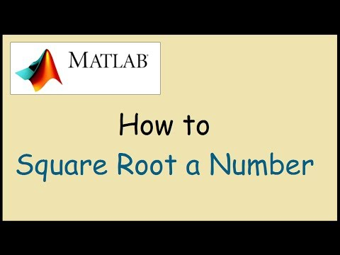 How to Square Root a Number in Matlab
