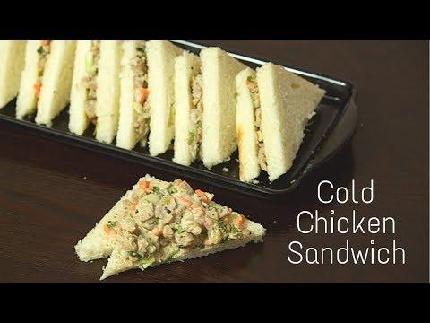 Cold Chicken Sandwich Recipe   Chicken Salad and Mayonnaise Sandwich   Chicken Sandwich Recipe