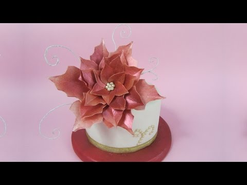 Wafer Paper Poinsettia tutorial (How to)