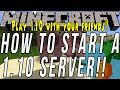 How To Start A Minecraft 1.10 Server (Play Minecraft 1.10 W/ Your Friends!)