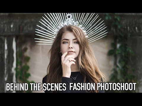 NATURAL LIGHT FASHION EDITORIAL PHOTOSHOOT | BEHIND THE SCENES DIY CROWN IN ACTION