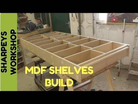 Building a Shelving unit with mdf