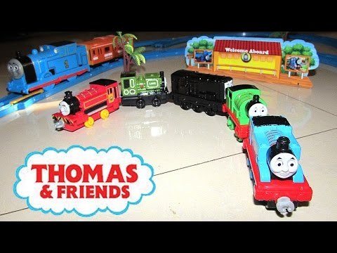 THOMAS & FRIENDS Trackmaster Trains Unboxing Thomas Toys Tracks Percy Victor Diesel JeannetChannel