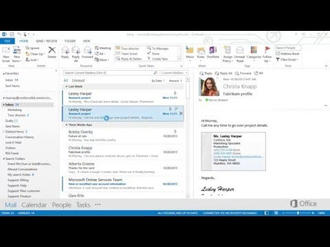 Chap 08 01 Import  and export vCards to outlook contacts