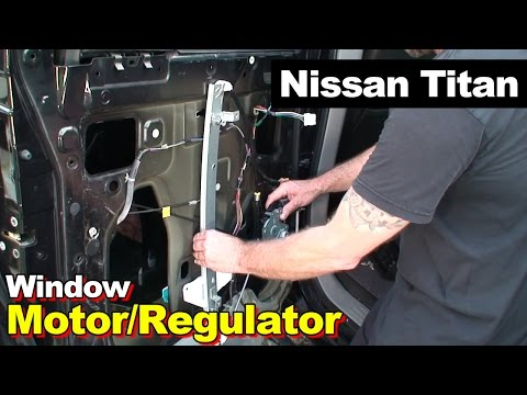 2004 Nissan Titan Rear Left Window Motor / Regulator