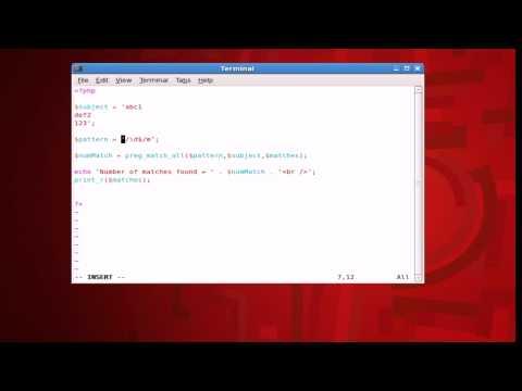 PHP Regular Expressions Tutorial - \Z end of string normal behavior