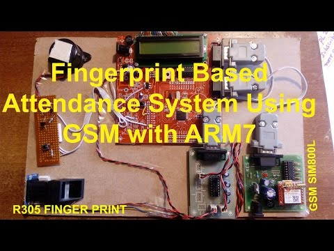Fingerprint Based Attendance System Using GSM with ARM7
